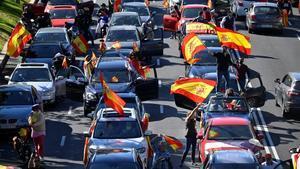 Manifestación convocada por Vox en Madrid.