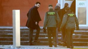 Roger Torrent, a su llegada a la cárcel de Estremera.