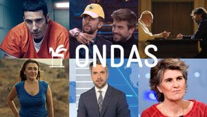 Algunos de los ganadores de los Premios Ondas 2019 en la categoría de televisión.