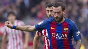Aleix Vidal en un partido del Barça contra el Athletic en el Camp Nou.