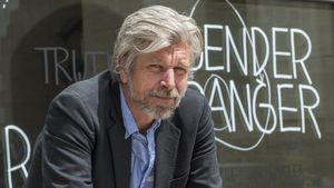 El escritor Karl Ove Knausgard, horas antes de su participación en el Kosmopolis, este martes.