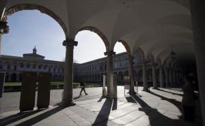 La Universidad de Milán, cerrada al menos durante una semana por miedo a la propagación del coronavirus. (Italia)