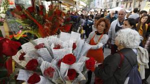 Les floristeries enviaran roses de Sant Jordi a domicili