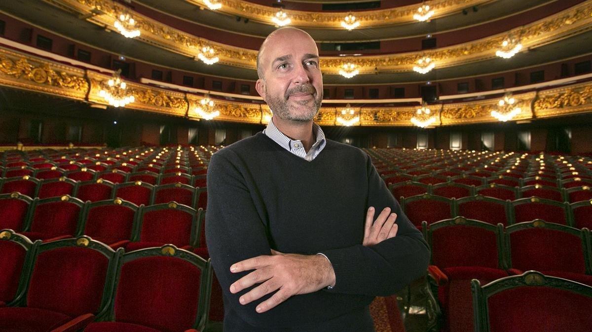 Víctor García de Gomar, director artístico del Liceu, en el teatro de la Rambla, este martes.