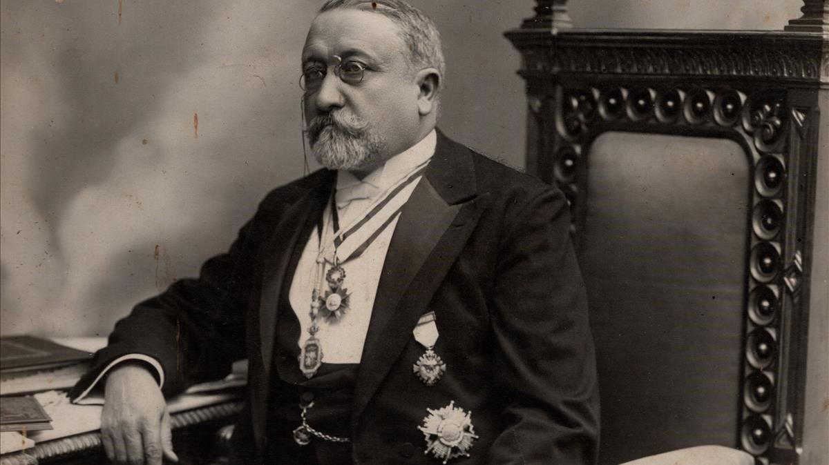 El arquitecto Josep Domènech i Estapà, cuando era presidente de la Reial Acadèmia de Ciències i Arts.