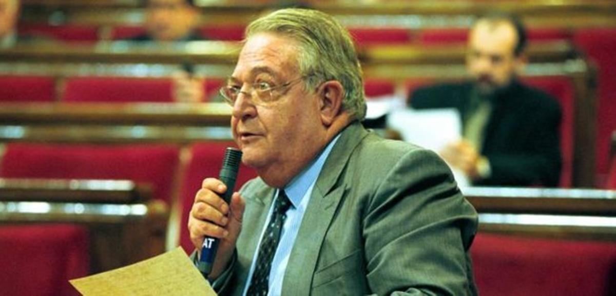 El exdiputado de CiU Jaume Camps, en un pleno del Parlament, en diciembre del 2012.