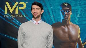 Michael Phelps, a la fira d'esports Ispo, a Munic.