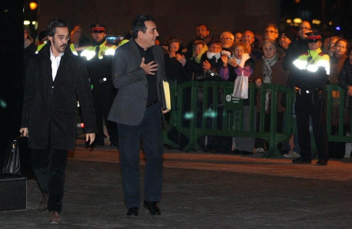 Manuel Bustos declara ante el juez, en diciembre del 2012.