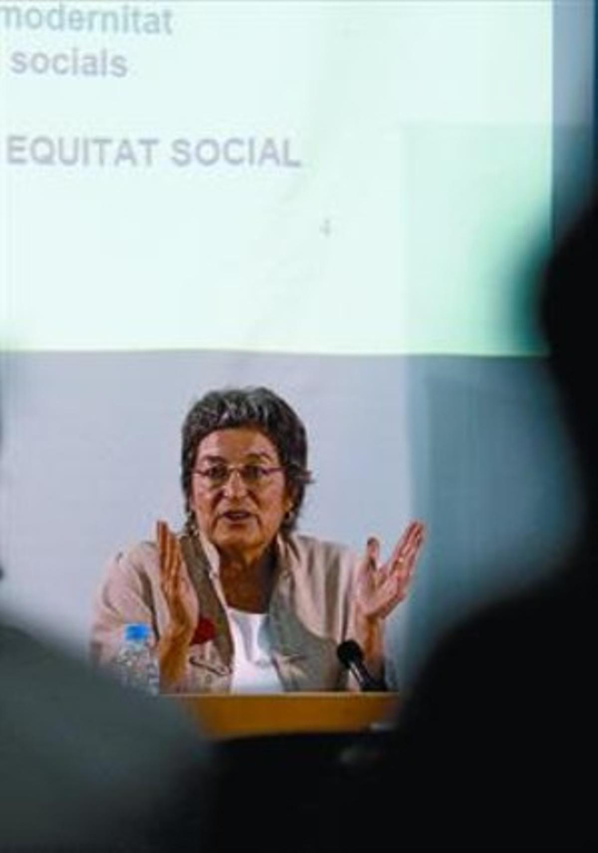 Socióloga 8 Cristina Brunet, que abrió las jornadas en Golferichs.