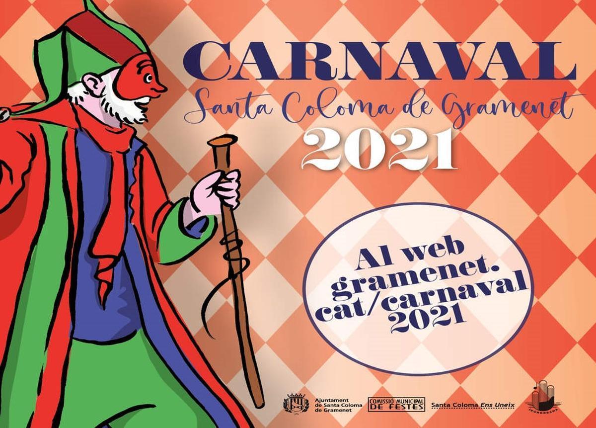 Cartel del Carnaval 2021 de Santa Coloma de Gramenet.