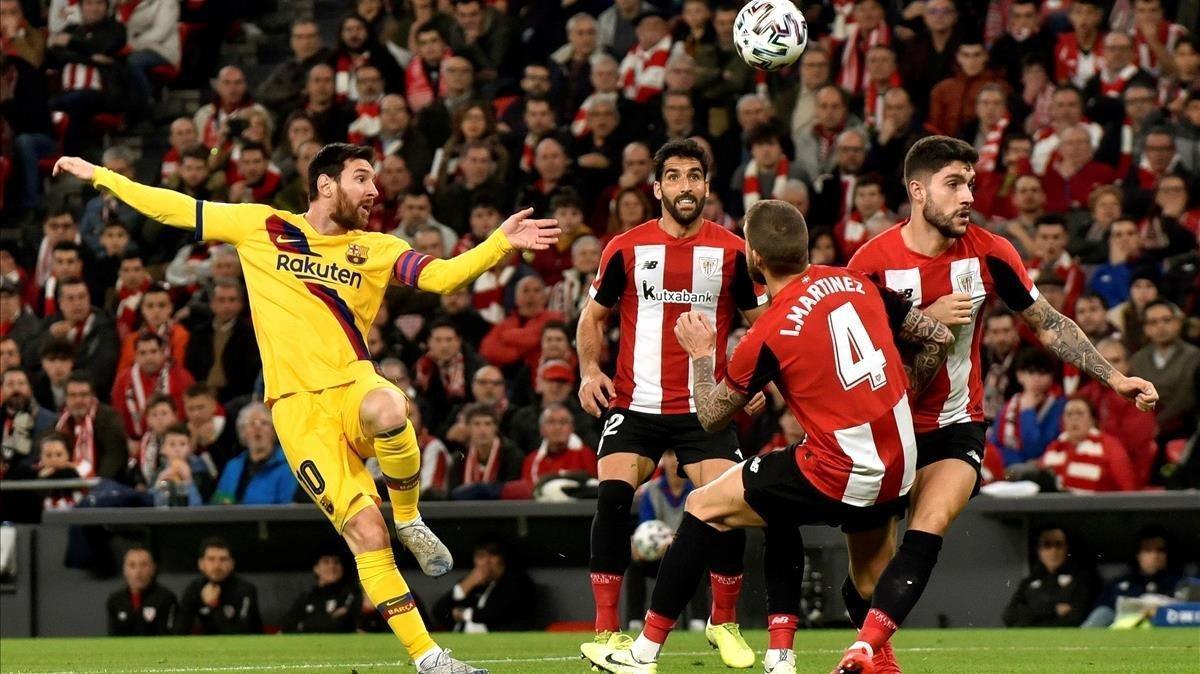 Un momento de la derrota del Barça en la semifinal de Copa.