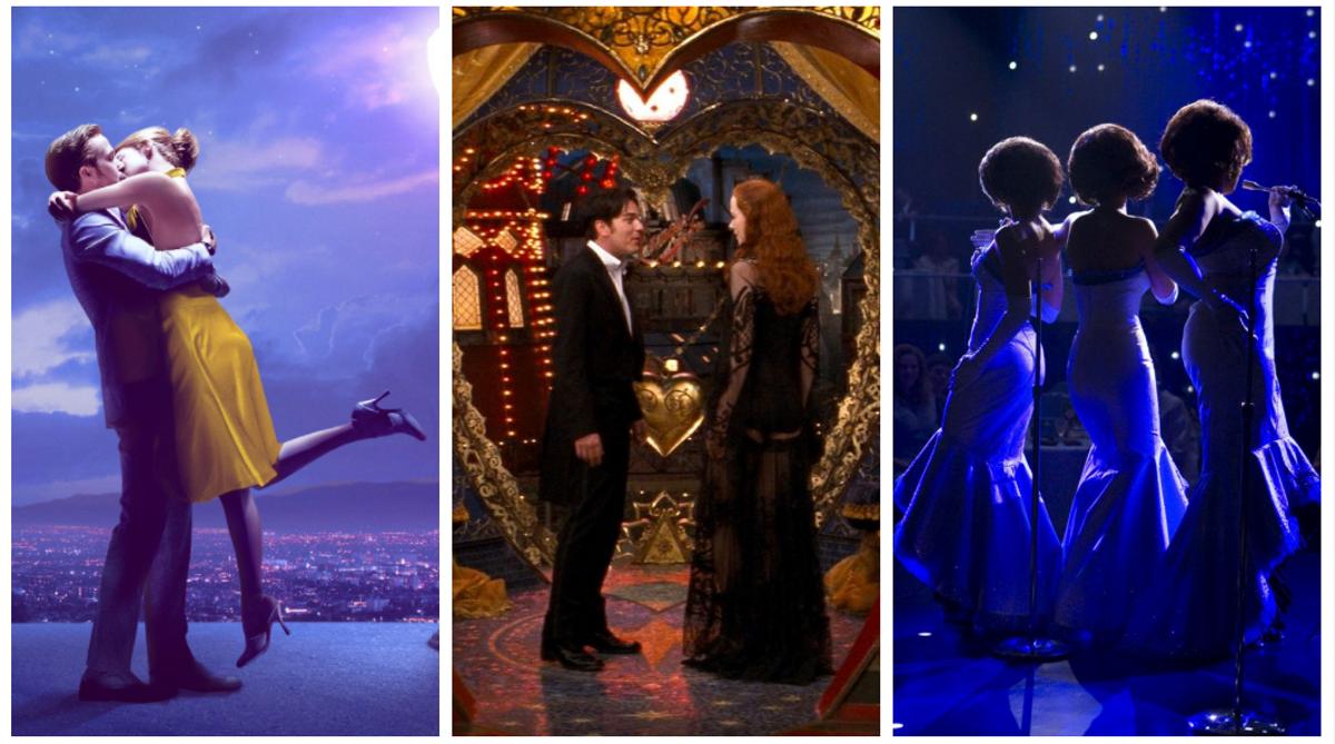 Fotogramas de 'La La Land', 'Moulin Rouge' y 'Dreamgirls'