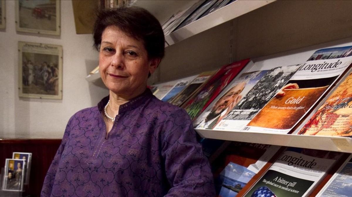 La escritora italiana Simonetta Agnello Hornby, en su última visita a Barcelona.