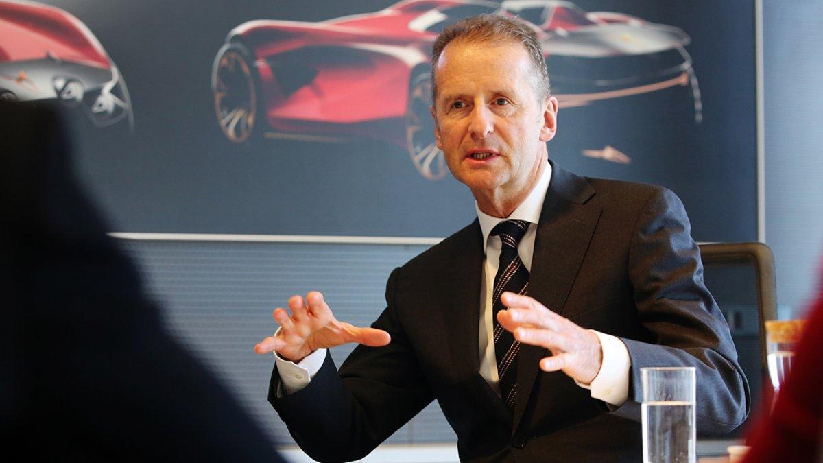 Herbert Diess, CEO del Grupo Volkswagen.