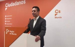Leonardo Pérez, candidato en las primarias de Ciudadanos en Murcia celebradas en marzo pasado.