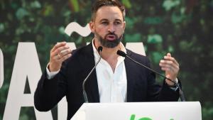 El líder de Vox, Santiago Abascal, en Ceuta en octubre del 2019.