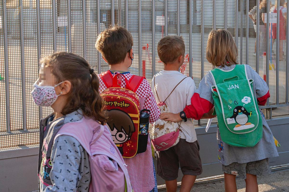 Vuelta a la escuela en el centro Josep Madrenys, de Vilobí d'Onyar.
