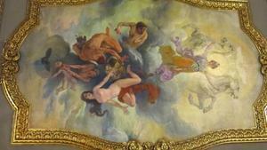 'La ley triunfa sobre el mal', la pintura que cubre el techo sobre los acusados del 'procés'.