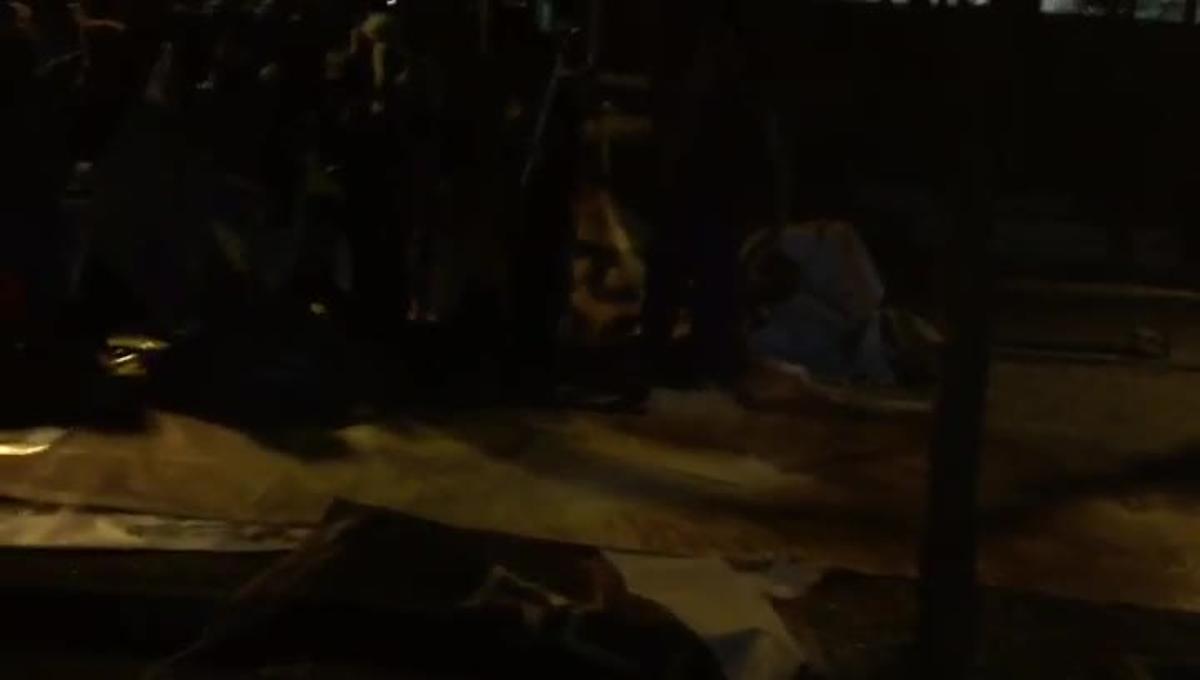Una sortida nocturna d'una brigada de netejaa Barcelona el mes de març de l'any passat.