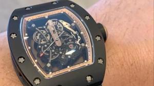 Este es el mismo reloj sustraído, de la marca Richard Mille yvalorado en 200.000 euros.