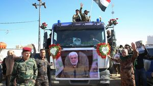 El entierro de Solimani en Iraq.