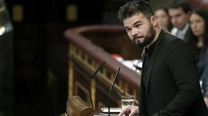 Dur discurs de Gabriel Rufián contra el PSOE en la investidura de Rajoy.