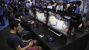 Un aspecto de la feria de videojuegos Barcelona Games World.