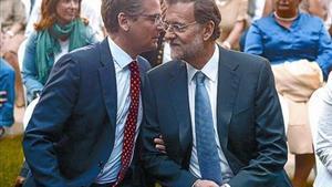 Rajoy junto a Basagoiti, en un acto electoral en San Sebastián, durante la pasada campaña vasca.