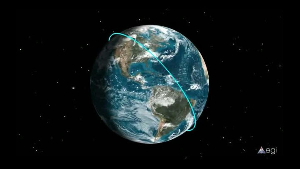 La caída del satélite UARS sobre la Tierra.