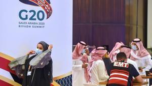 Preparativos en Ryad para la cumbre del G-20 en Arabia Saudí.