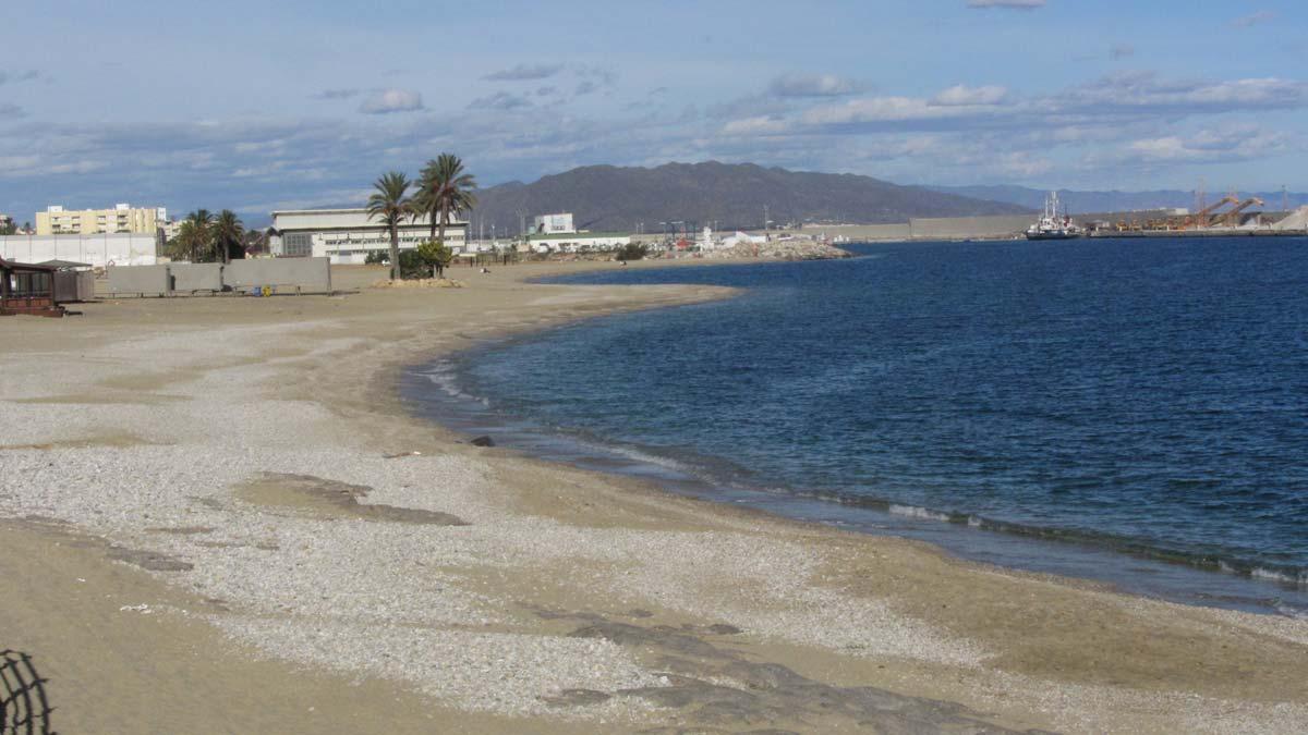 La playa de Garrucha.