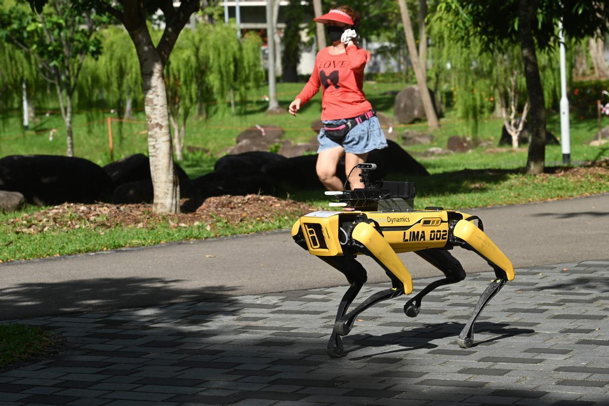 Un perro robótico de Boston Dynamics similar al usado por la policía de Nueva York