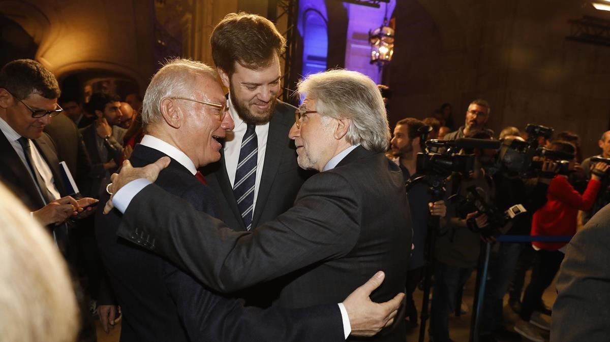 Isac Andic, Antonio Asensio y Josep Sánchez Llibre.