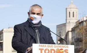 Carlos Carrizosa (Cs) en un acto de su partido en Girona.