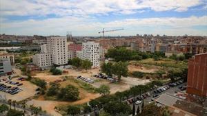 La zona de los antiguos cuarteles de Sant Andreu, en la que se construirán equipamientos y vivienda pública.