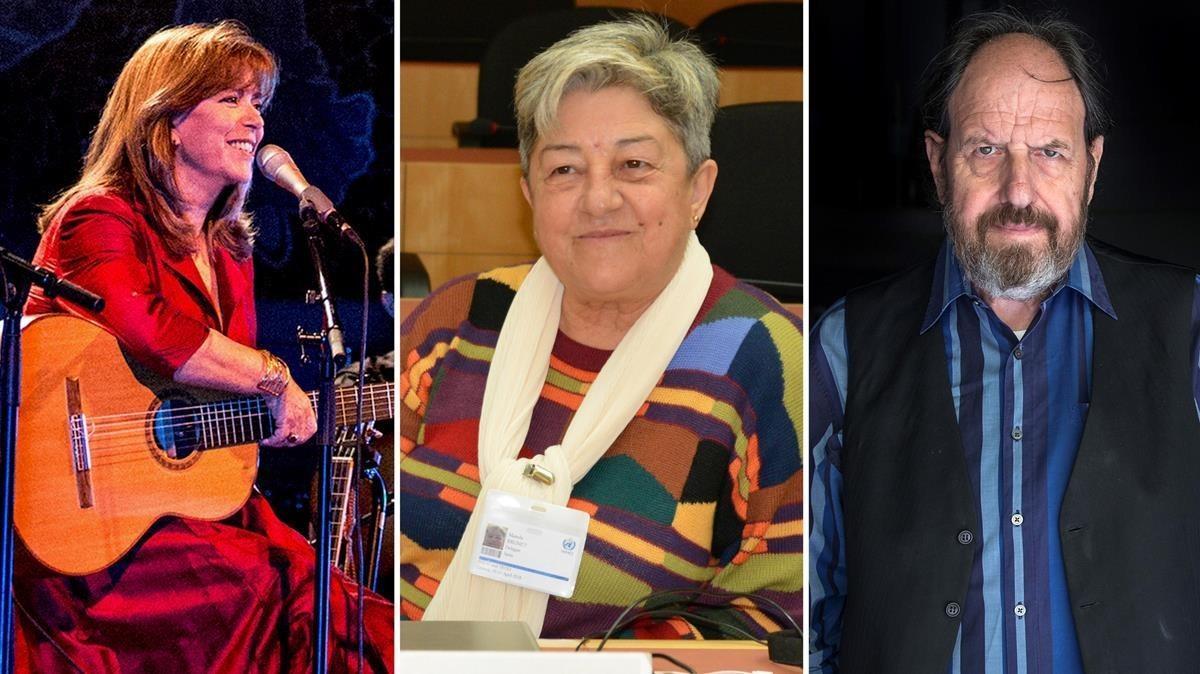Maria del Mar Bonet, Manola Brunet y Josep Maria Pou, finalistas del Català de l'Any.