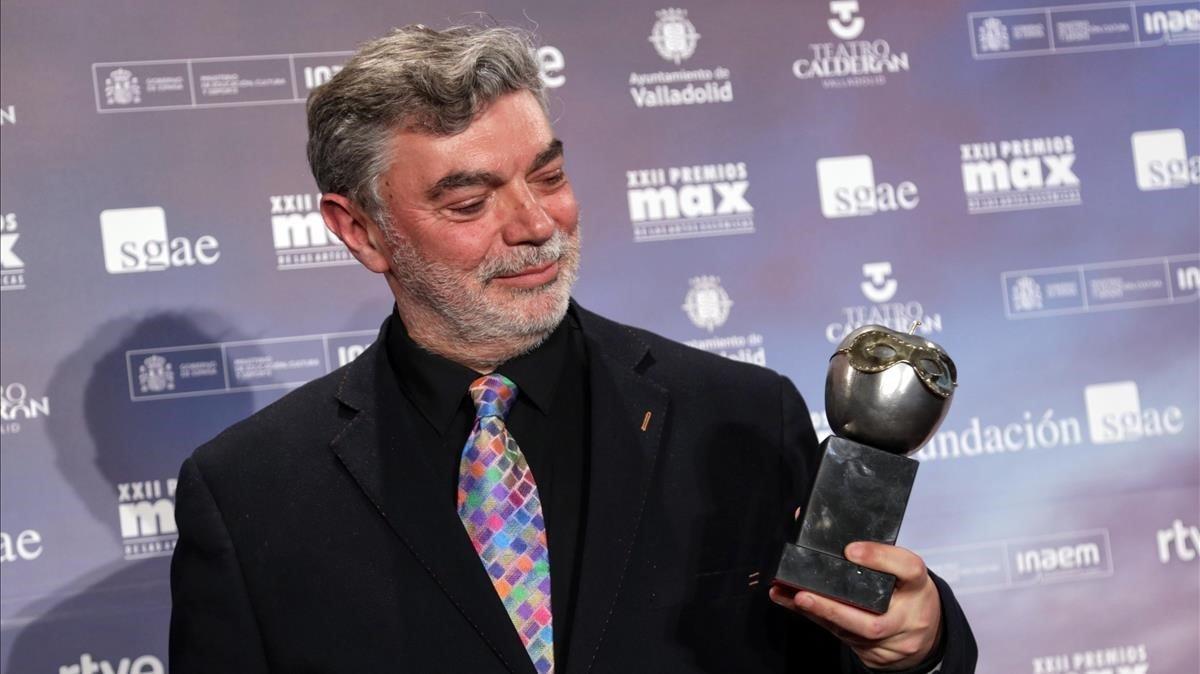 Xavier Albertí, por el Max que ha recibido por la dirección de 'Temps salvatge'.