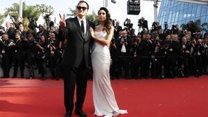 Quentin Tarantino y su esposa, Daniella Pick, en la pasada edición del festival de Cannes.