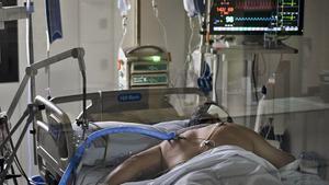 Un paciente en la uci.