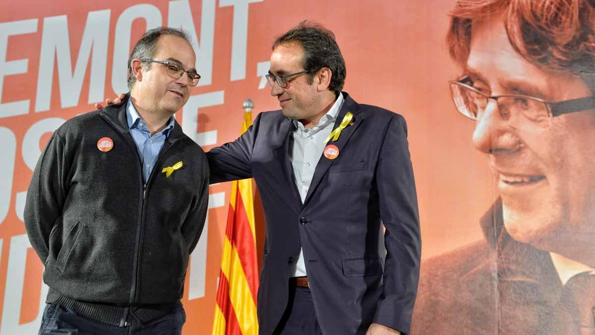 Jordi Turull y Josep Rull hanmanifestado tristeza por los que han quedado en la cárcel.