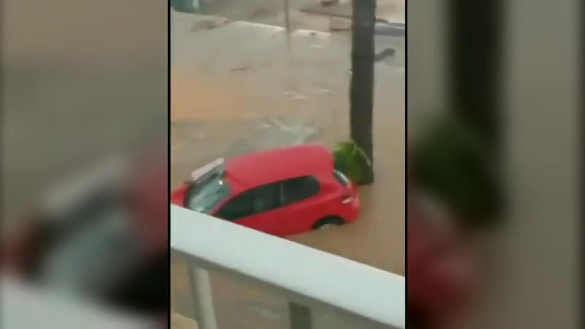 Lluvias torrenciales en la zona de Alcanar