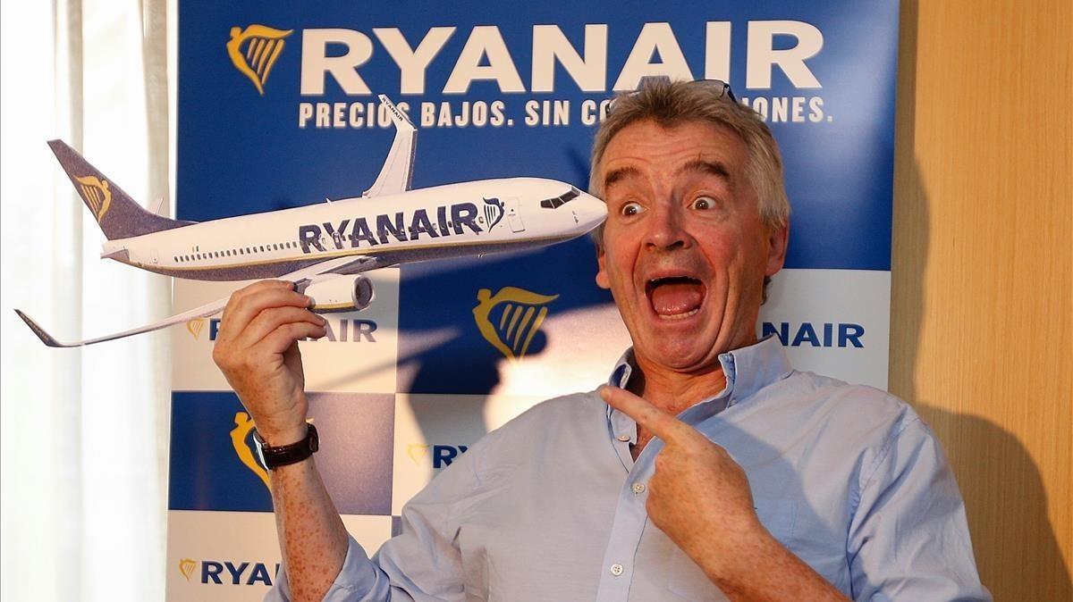 El presidente dela compañía Ryanair, Michael O'Leary,.