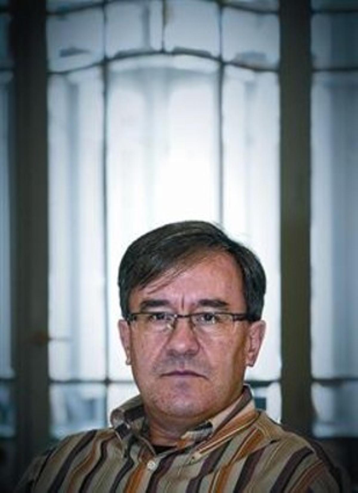 Ángel Dolado, ayer, durante la entrevista en Barcelona.