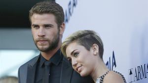 Liam Hemsworth yMiley Cyrus, en el 2013.