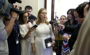 Ana Pastor, en la reunión de la Mesa del Congreso.