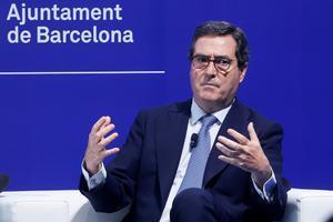 El presidente de CEOE, Antonio Garamendi, en las jornadas del Cercle.