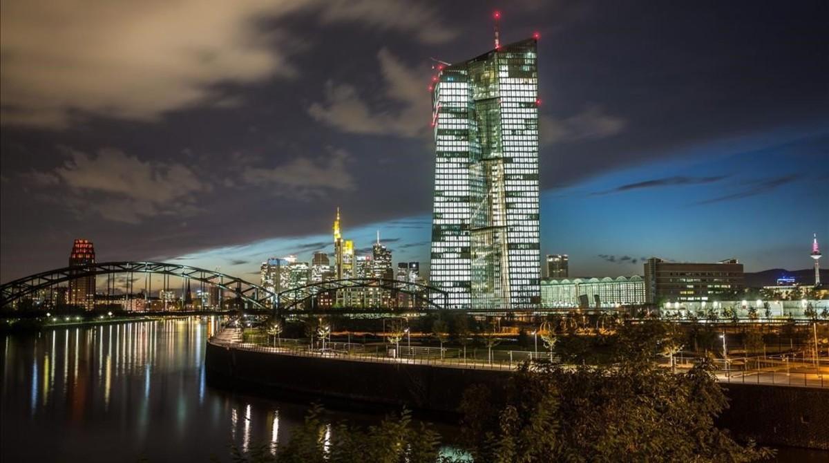 La nueva sede del BCE en Fráncfort, inaugurada en el 2014.