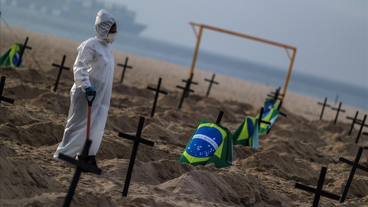El Brasil podria arribar als 1.600 morts al dia per coronavirus