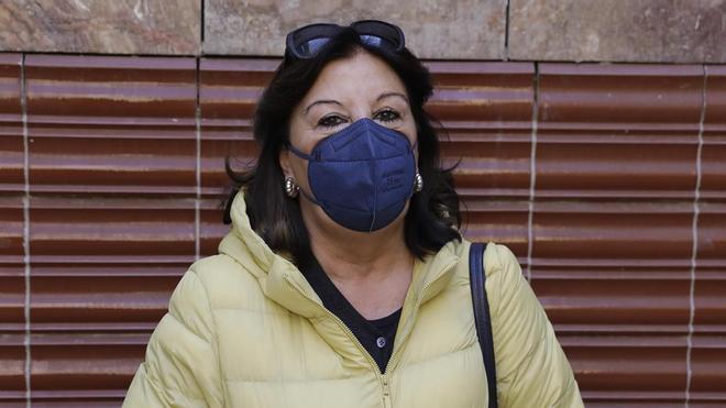 Isabel Valls, vacunada de covid.