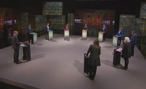 Debate de los candidatos a las elecciones catalanas del 14-F, en TV-3.